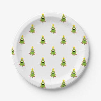 Assiettes En Papier Arbre de Noël