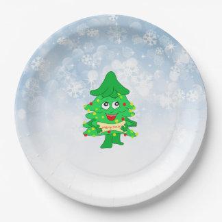 Assiettes En Papier arbre de Noël de Joyeux Noël