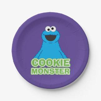 Assiettes En Papier Art de caractère de monstre de biscuit