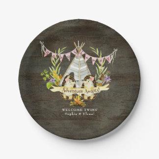 Assiettes En Papier Art jumel de l'aventure BOHO de hérisson de baby