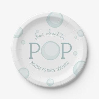 Assiettes En Papier Au sujet de pour sauter le baby shower de bulles