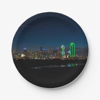 Assiettes En Papier Aube Pano d'horizon de Dallas