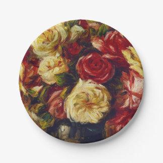 Assiettes En Papier Auguste Renoir - bouquet des roses