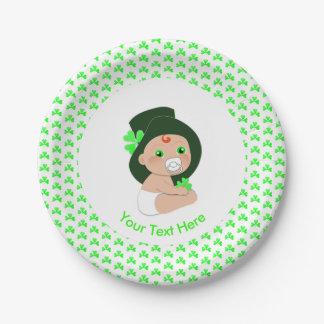 Assiettes En Papier Baby shower chanceux de shamrock de lutin
