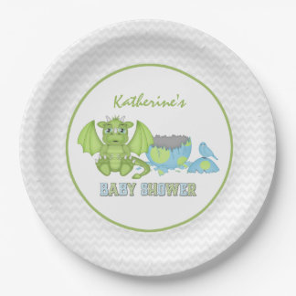 Assiettes En Papier Baby shower de dragon