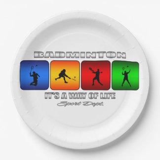 Assiettes En Papier Badminton frais c'est un mode de vie