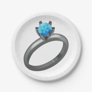Assiettes En Papier Bague à diamant - Emoji
