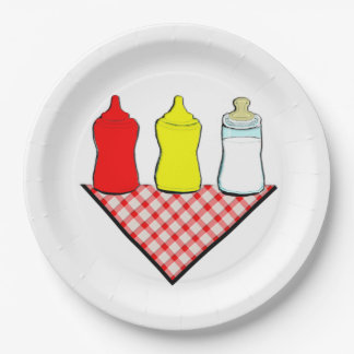 Assiettes En Papier BBQ de baby shower