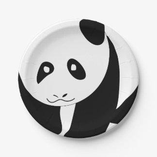 Assiettes En Papier Beau panda