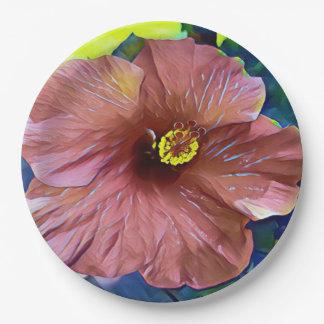 Assiettes En Papier Belles fleurs artistiques de ketmie