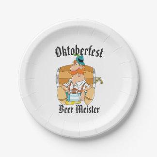 Assiettes En Papier Bière Meister d'Oktoberfest