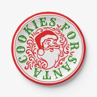 Assiettes En Papier Biscuits pour les plaques à papier de Père Noël