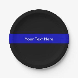Assiettes En Papier Blue Line mince maintiennent l'ordre l'appui de