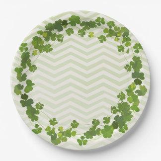 Assiettes En Papier Bouquet de shamrock, le jour de St Patrick