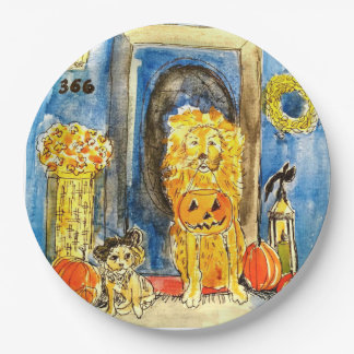 Assiettes En Papier Bourgeons de Halloween de plaques à papier