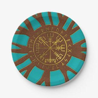 Assiettes En Papier Boussole de navigation de Vegvisir - de Viking