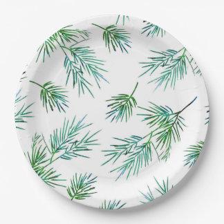 Assiettes En Papier 'Branches de pin