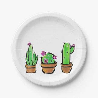 Assiettes En Papier Cactus