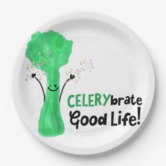 Assiettes En Papier Calembour positif de céleri - bonne vie de
