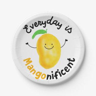 Assiettes En Papier Calembour positif de mangue - quotidien est