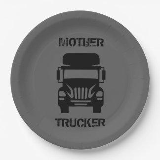 Assiettes En Papier Camionneur drôle et frais de mère par le