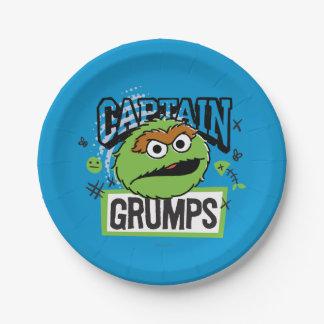 Assiettes En Papier Capitaine Oscar Grumps