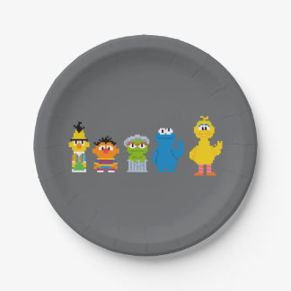 Assiettes En Papier Caractères de Sesame Street de pixel