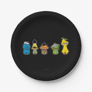 Assiettes En Papier Caractères de Sesame Street de zombi