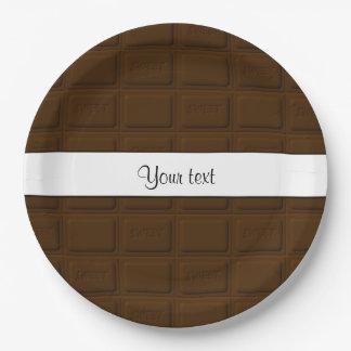 Assiettes En Papier Carrés délicieux de chocolat