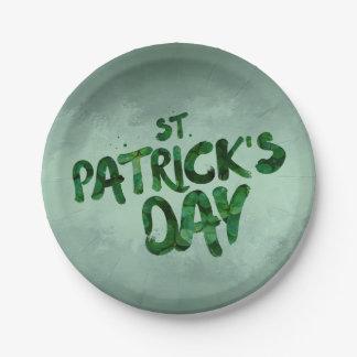 Assiettes En Papier Celtic irlandais de trèfle de vert du jour de St