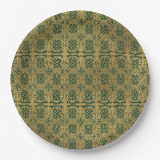 Assiettes En Papier Celtic vert