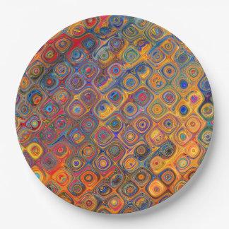 Assiettes En Papier Cercles concentriques