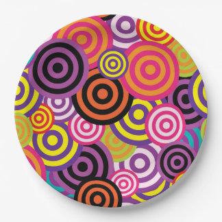 Assiettes En Papier Cercles concentriques #2