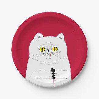 Assiettes En Papier Chat avec les plaques à papier de souris