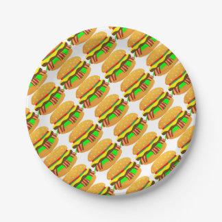 Assiettes En Papier Cheeseburger de lard