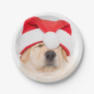 Assiettes En Papier Cher Père Noël Puppy