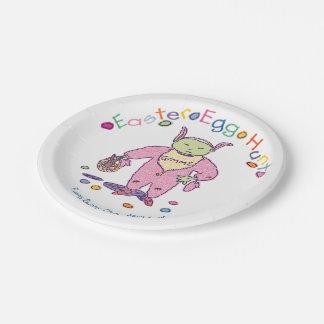 Assiettes En Papier Chocolat Ghoulie de Gimme de chasse à oeuf de