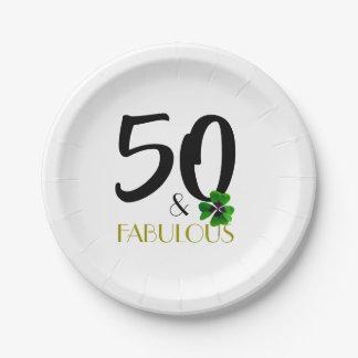 Assiettes En Papier Cinquante et plaque à papier fabuleuse