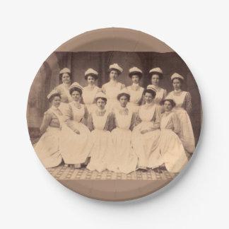 Assiettes En Papier circa les diplômés 1914 d'école d'infirmières