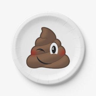 Assiettes En Papier Cligner de l'oeil la dunette Emoji