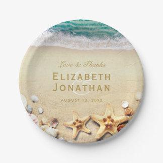 Assiettes En Papier Collection tropicale vintage de mariage d'étoiles