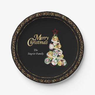 Assiettes En Papier Conception élégante d'arbre de Noël