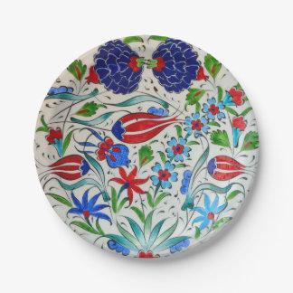 Assiettes En Papier Conception florale turque