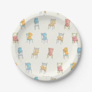 Assiettes En Papier Concerne le motif de chaises