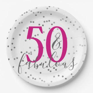 Assiettes En Papier Confettis 50 et plats fabuleux de fête
