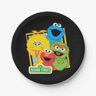 Assiettes En Papier Copains de Sesame Street