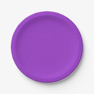 Assiettes En Papier Couleur solide pourpre de crocus