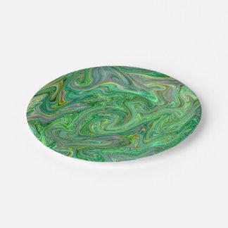Assiettes En Papier couleurs crémeuses, vertes