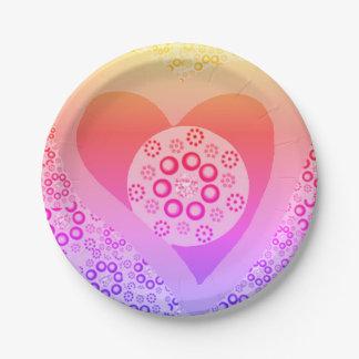 Assiettes En Papier Coutume lavendar de rose de plaques à papier