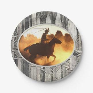 Assiettes En Papier Cowboys de plaques à papier